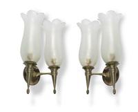coppia di lampade da parete by seguso vetri d'arte (co.)