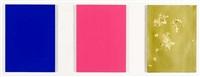 monochrome und feuer (triptychon) by yves klein