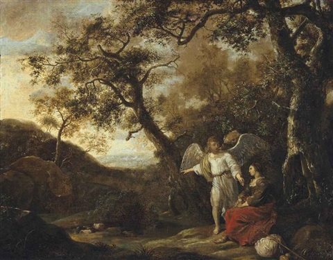 hagar and the angel by jan lievens