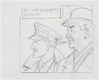 blake et mortimer (preparatory study) by edgar pierre jacobs