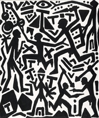 chaotisches system by a.r. penck