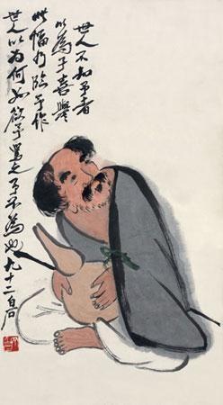 人物 by qi baishi