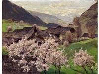 obstblüte in den bergen by fritz wilhelm rabending