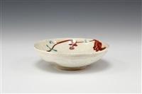 tea bowl by fujimoto yoshimichi