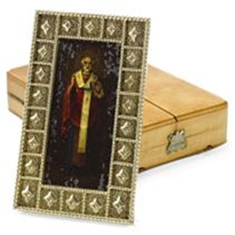 icon of saint nicholas for fabergé by johann viktor aarne