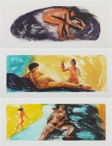 floating island (3 works) by eric fischl