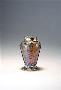 vase mit zinnmontierung by friedrich adler