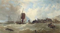 Fishing vessels off the south coast, 1858