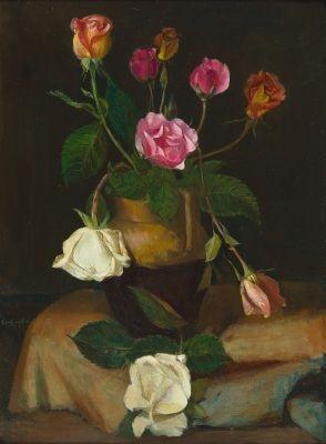stillleben mit rosen by wilhelm lachnit