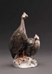 perlhühner by ottmar obermaier