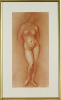 a standing female nude by paul resika