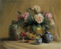 still life with vase and teapot by lynn nelsen aylsworth