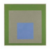 homage to the square: blue sound by josef albers