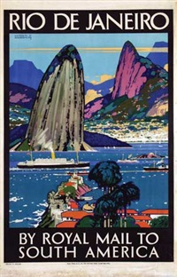 rio de janeiro by royal mail to south america by kenneth shoesmith