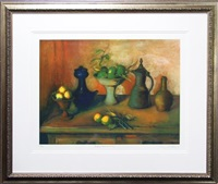turkish pots and lemons by margaret hannah olley