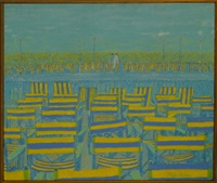 empty deck chairs by philip dunn