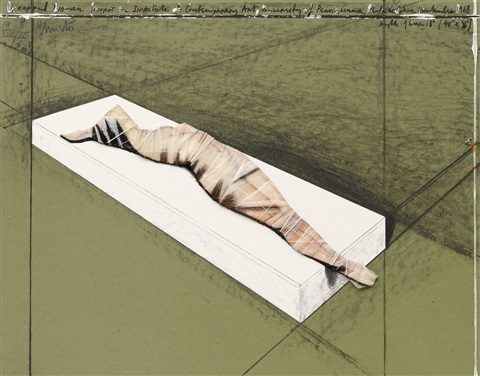 wrapped woman project for institute of contemporary art university of pennsylvania philadelphia september 1968 by christo and jeanne claude