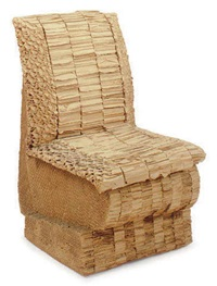 sitting beaver side chair by frank gehry