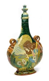 schraubflasche mit maskaronhenkeln by ginori porcelain factory (co.)