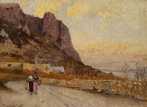 d211438fc2516a Zwei Frauen auf einer Straße am Meer by Manuel Wielandt on artnet