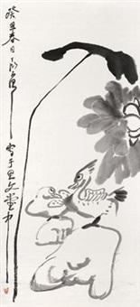 荷花鸳鸯 by ding yanyong