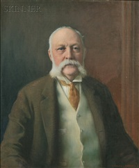 portrait of adelbert clark tuttle (1847-1914) by charles courtney curran