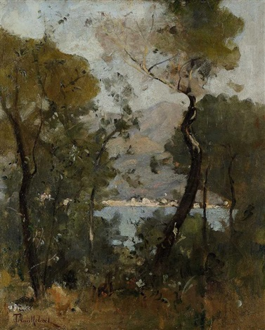landschaft mit see by paul désiré trouillebert