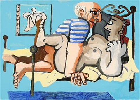 picasso med model lille version by peter holck