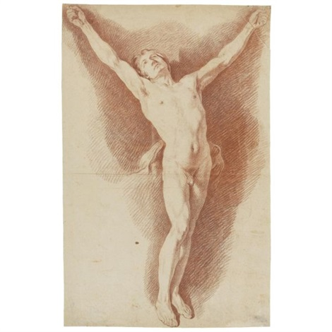 male academy study for a crucifixion by nicolas sébastien adam