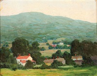 impressionistic landscape by clara e. langenbach