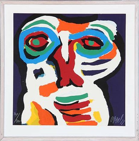 figure composition by karel appel