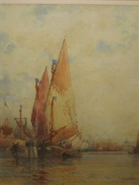 shipping on the thames by frederick james aldridge