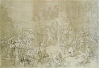 la visite du sultan selim iii au général sébastiani préparant la défense de constantinople contre la flotte anglaise by jules rigo