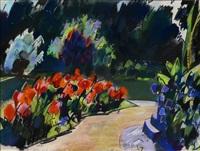 nebelweiher (park mit blühenden pflanzen) by otto herbig