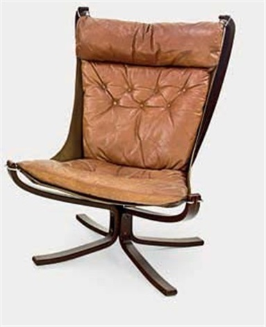 Vintage High Back Falcon Chair By Sigurd Ressell