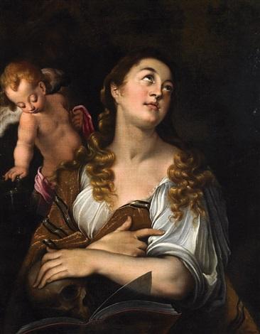 maria magdalena mit dem engelchen by joseph heintz the elder