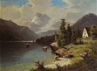 landschaft am see by fritz chwala