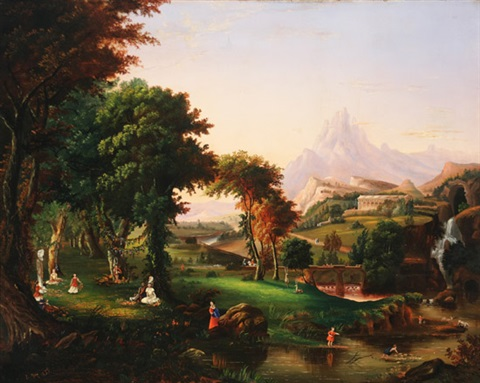 scene in arcadia by e gray