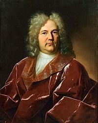 portrait d'homme au drapé rouge by gaspard rigaud