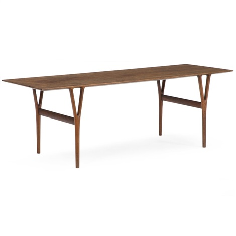 Rectangular Brazilian Rosewood Coffee Table With Sculptural Y Shaped Legs Intergrated With Top By Helge Vestergaard Jensen On Artnet