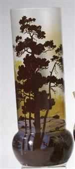 vase mit flußlandschaft by carl goldberg
