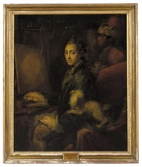 portrait of prince ernst of mecklenburg-strelitz by anna dorothea lisiewski