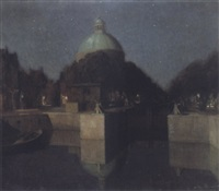 nachtindruk (singel, amsterdam) by josef karel frans posenaer