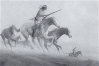 western figures on horseback by gerald mccann