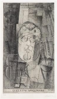 portrait de guillaume apollinaire by louis marcoussis