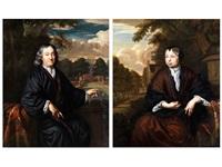 portrait eines herrn (+ portrait einer damen; pair) by christoffel lubieniecki