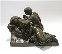 le satyre et la nymphe endormie by jef lambeaux