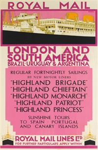 royal mail/london and south america by kenneth shoesmith