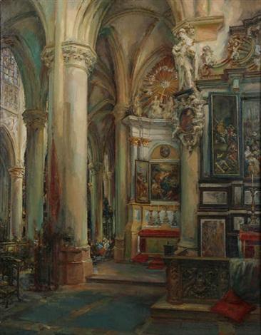 intérieur de léglise saint gommaire à lierre by frans ros