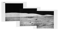 telephoto panorama of chain crater in the north complex, standup eva, apollo 15, august 1971 by david scott